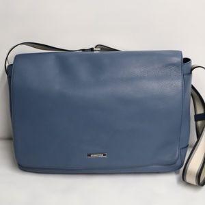 Lite Blue  Michael Kors Leather Computer Bag